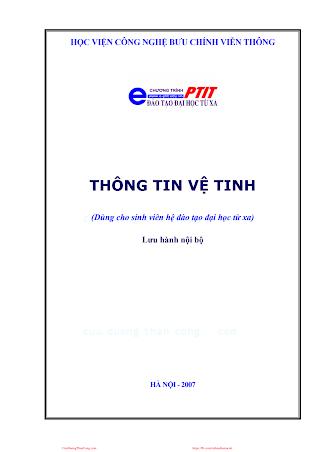 BCVT.Thông Tin Vệ Tinh - Ts. Nguyễn Phạm Anh Dũng, 131 Trang.pdf