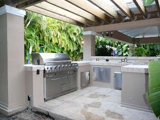 Outdoor Kitchen Florida Pergola Builtin Grill South Outdo Flickr