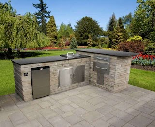 Custom Built Outdoor Kitchens Prefab Patio Kitchen Island Kitchen Bbq