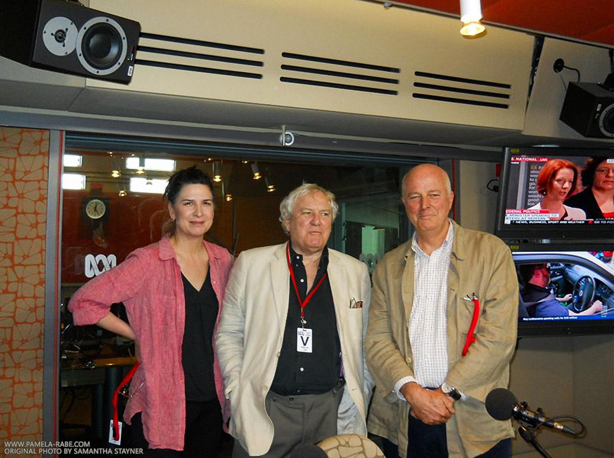 Stuart Littlemore, Frank Moorhouse, Pamela Rabe (Samantha Stayner - ABC Local Radio)