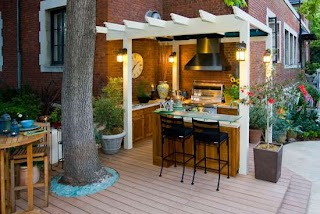 Outdoor Kitchen Small Space Sbl Home Acaal