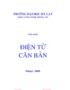 ĐHĐL.Giáo Trình Điện Tử Căn Bản - Phan Văn Nghĩa, 177 Trang.pdf