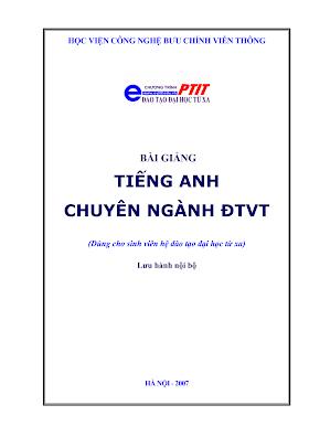 BCVT.Bài Giảng Tiếng Anh Chuyên Ngành ĐTVT 2007 - Ths.Nguyễn Quỳnh Giao, 160 Trang.pdf