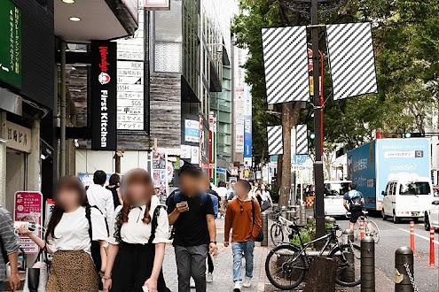 宮益坂街路灯フラッグ広告