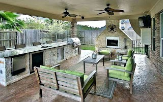 Outdoor Patio Kitchen Covered Designs S