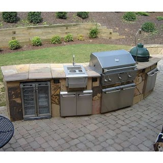 Elite Outdoor Kitchens Curved Custom Kitchen Woodlanddirectcom Grilling