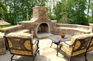 Outdoor Kitchens and Fireplaces Kitchen Fireplace Design in NJ  K C L Design