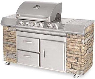 Charmglow Outdoor Kitchen Amazoncom Deluxe Chefs Island 495h Multi Home