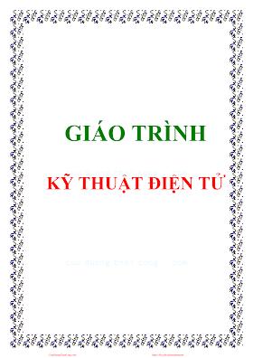 Giáo Trình Kỹ Thuật Điện Tử - Lê Thị Hồng Thắm, 123 Trang.pdf