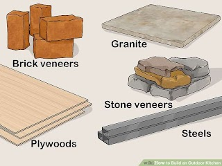 How to Build a Stone Outdoor Kitchen N with Pictures Wiki