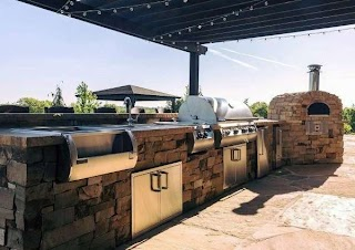 Outdoor Kitchen Layouts Top 60 Best Ideas Chef Inspired Backyard Designs
