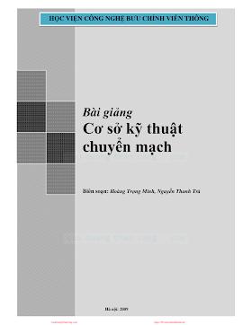 BCVT.Bài Giảng Cơ Sở Kỹ Thuật Chuyển Mạch - Hoàng Trọng Minh & Nguyễn Thanh Trà, 133 Trang.pdf