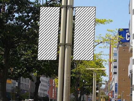 渡辺通り 街路灯バナーフラッグ