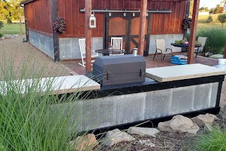 Outdoor Kitchen Concrete Countertops Creating an Inexpensive With