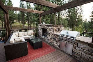 Outdoor Kitchen and Fireplace Designs Featuring Pizza Ovens S Other