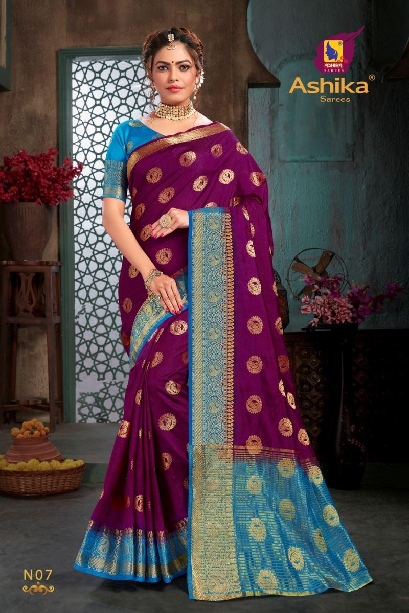 Magenta Colour Silk Saree