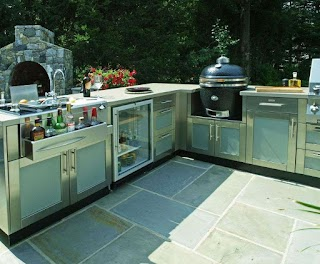 Outdoor Kitchen Design Center This Large Lshaped Includes Paneled
