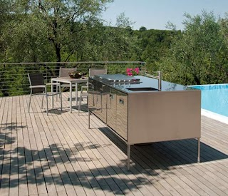 Compact Outdoor Kitchen Island Artusi From Arclinea