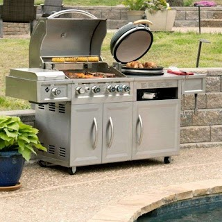 Members Mark Outdoor Kitchen Gas Kamado Combo Grill Detail 2 Ideas