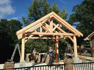 Timber Frame Outdoor Kitchen Outbuildings Carports S More