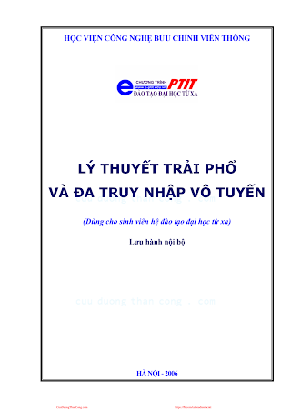 BCVT.Lý Thuyết Trải Phổ Và Đa Truy Nhập Vô Tuyến - Ts. Nguyễn Phạm Anh Dũng, 154 Trang.pdf