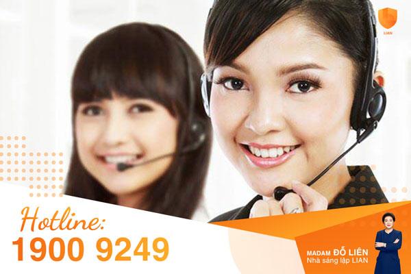 Hướng dẫn sử dụng email, hotline và các kênh liên hệ khác khi cần giải đáp thắc mắc về bảo hiểm LIAN