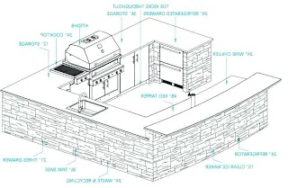 Outdoor Kitchen Plans Pdf Layout and Design Design