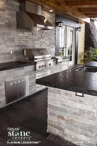 Outdoor Kitchen Stone Veneer Platinum Natural S Inc