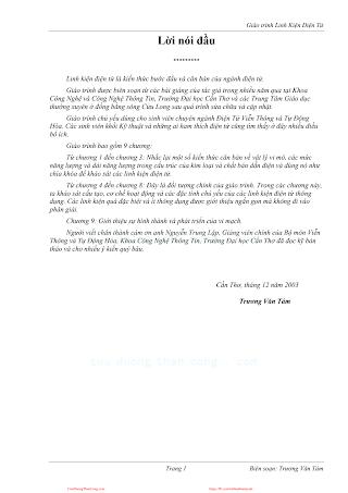 Giáo Trình Linh Kiện Điện Tử - Trương Văn Tám, 163 Trang.pdf