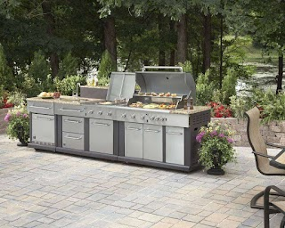 Master Forge Modular Outdoor Kitchen 3burner Bg179c Sink At