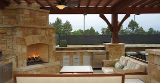 Outdoor Kitchen Fireplace Ideas 25 Amazing S S Design Eva Furniture