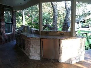 Limestone Outdoor Kitchen Austin Decks Pergolas Covered Patios Porches More