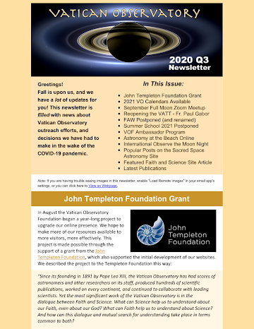 2020 Q3 Foundation Newsletter
