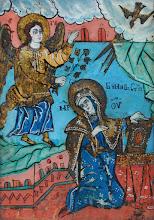 "Icoana pe sticla ""Buna Vestire"", sec al XVIII-lea, Transilvania - 42 - poza 2 - Galeria Anton"