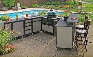 Prefab Outdoor Kitchen Kits Completed Sink Bestofhousenet 32362