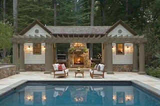 Pool House with Outdoor Kitchen Traditional Dc Metro By Rill Architects