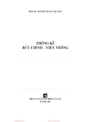 Thống Kê Bưu Chính Viễn Thông (NXB Giao Thông Vận Tải 2007) - Pgs.Ts.Nguyễn Đăng Quang, 164 Trang.pdf