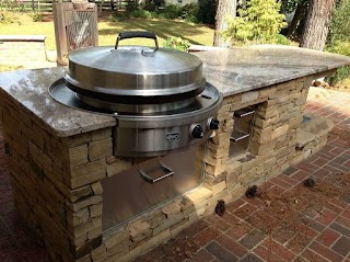 Outdoor Kitchen Charcoal Grill with Weber Weber