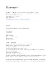 Detroit City Council Formal Session, 10 a.m.