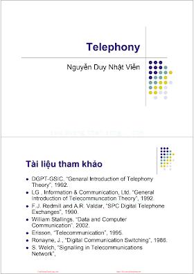 Slide.Kỹ Thuật Điện Thoại - Ths.Nguyễn Duy Nhật Viễn, 119 Trang.pdf