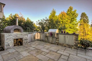 Pizza Oven Outdoor Kitchen Traditional Patio Portland By