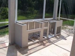 Steel Stud Outdoor Kitchen Chic Frames for S with for Island