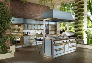Italian Outdoor Kitchen Pacific Light Blue The New By Officine Gullo Home