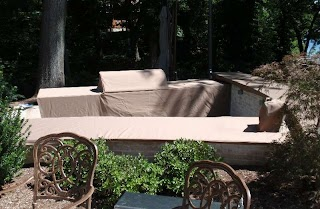 Custom Outdoor Kitchen Covers Grill Island