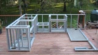 Build Outdoor Kitchen Frame Home Bar
