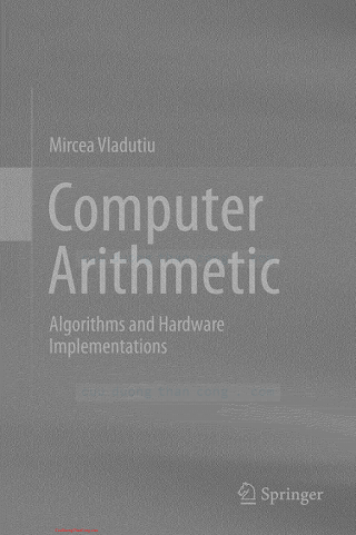 364218314X {2C37218E} Computer Arithmetic_ Algorithms and Hardware Implementations [Vladutiu 2012-09-14].pdf