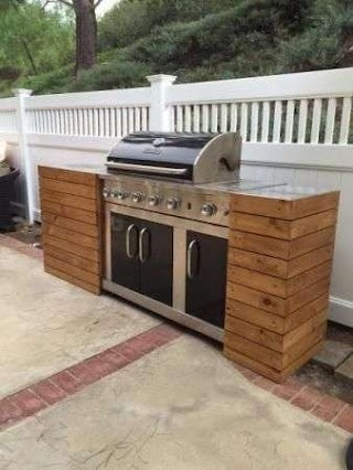 Outdoor Kitchen Built in Grills DIY Grill Tables Make a Standard Grill Look Like a Custom