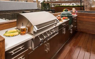 Fogazzo Outdoor Kitchens Danver and Brown Jordan Stainless Steel Kitchen Cabinets By