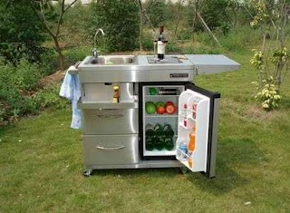 Portable Outdoor Kitchen Islands Ideal of Small Patio Space