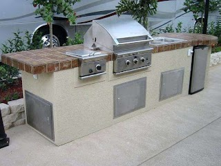 Side Burners for Outdoor Kitchens Kitchen with Green Egg And